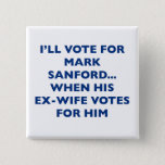 I'll vote for Mark Sanford Pinback Button