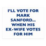 I'll vote for Mark Sanford Postcard