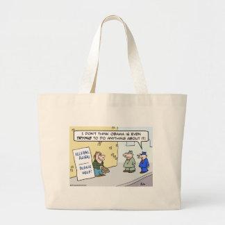 illegal alien immigration please help Obama Tote Bag