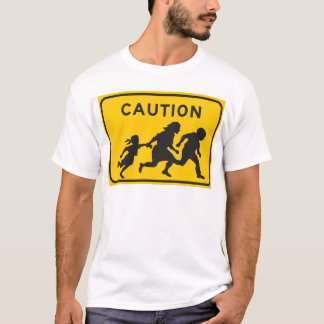 Illegal Aliens Crossing Highway Sign T-Shirt