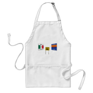 Illegal Border Crossing Sign Adult Apron
