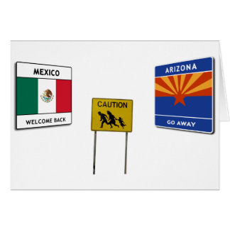 Illegal Border Crossing Sign Card