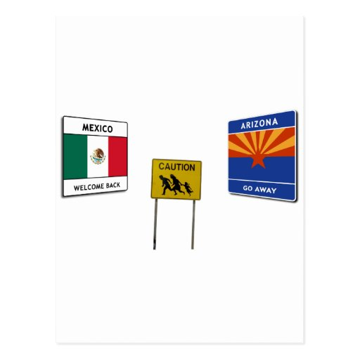 Illegal Border Crossing Sign Postcard