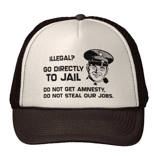 Illegal? Go Directly to Jail. Trucker Hat