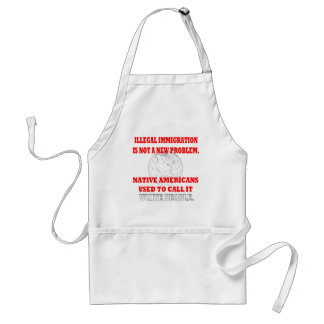Illegal Immigration Adult Apron