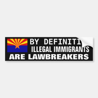 Illegal Immigration Car Bumper Sticker