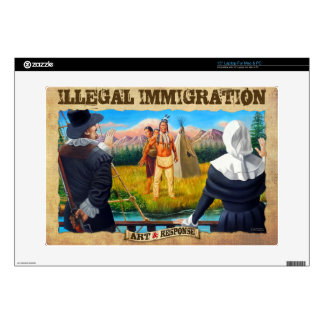 "Illegal Immigration case Decal For 15"" Laptop"
