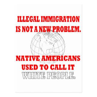 Illegal Immigration Postcard