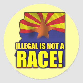 Illegal is not a Race Classic Round Sticker