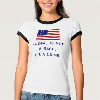 Illegal Is Not A Race, T Shirt