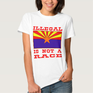 Illegal Is Not A Race T Shirt
