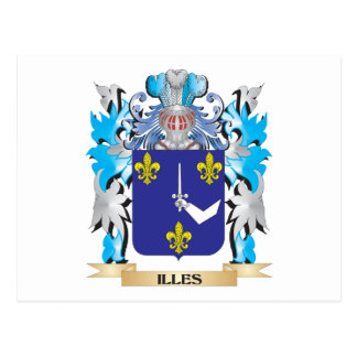 Illes Coat of Arms - Family Crest Postcard