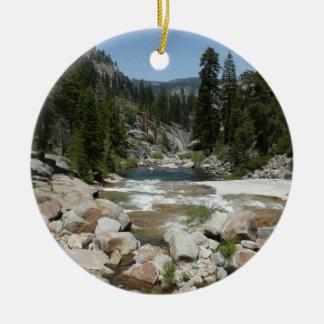 Illilouette Creek in Yosemite National Park Ceramic Ornament