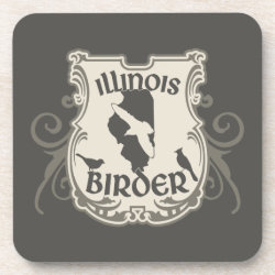 Beverage Coaster with Illinois Birder design