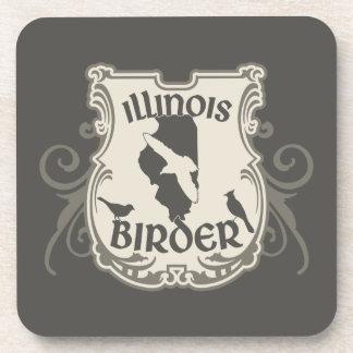 Illiniois Birder Drink Coaster