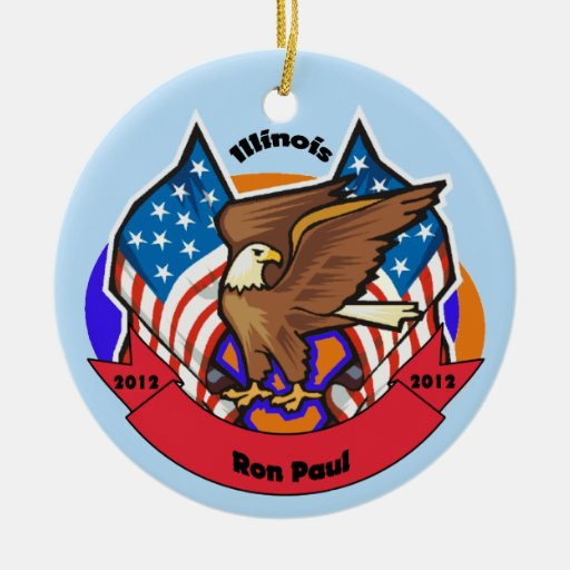 Illinois 2012 para Ron Paul Ornamento Para Reyes Magos