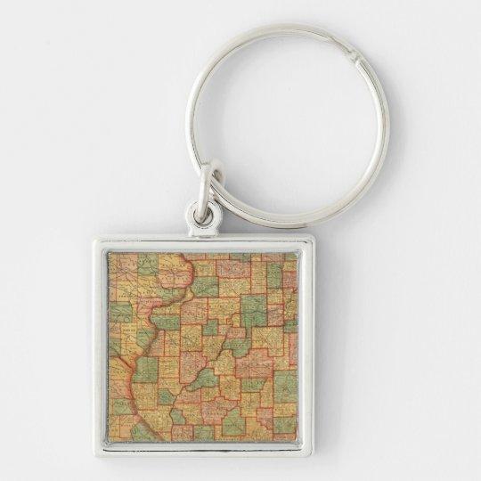 Illinois 7 keychain