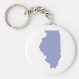 ILLINOIS a BLUE state Basic Round Button Keychain