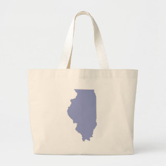 ILLINOIS a BLUE state Large Tote Bag