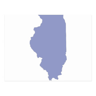 ILLINOIS a BLUE state Postcard
