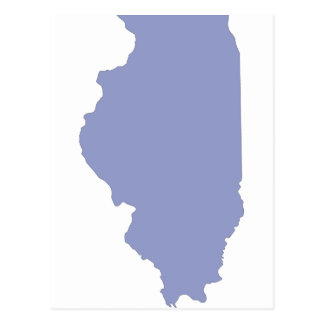 ILLINOIS a BLUE state Postcard
