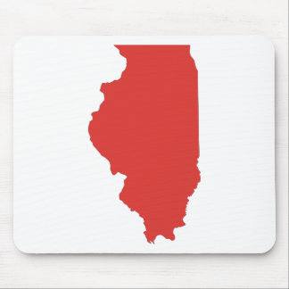 ILLINOIS - a RED State Mouse Pad