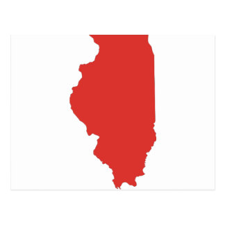 ILLINOIS - a RED State Postcard