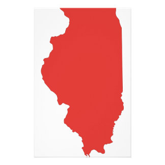ILLINOIS - a RED State Stationery