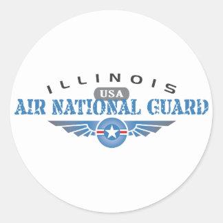 Illinois Air National Guard - USA Classic Round Sticker