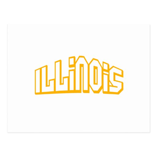 Illinois anaranjada postal