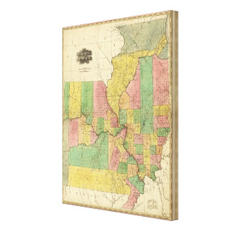 Illinois and Missouri 3 Canvas Print