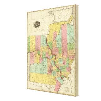 Illinois and Missouri 4 Canvas Print