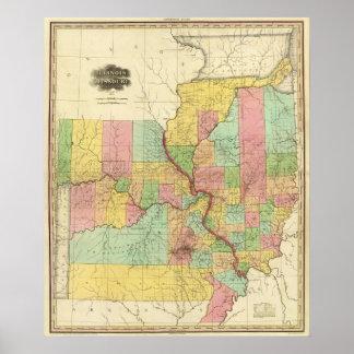 Illinois and Missouri 4 Poster