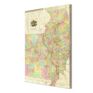 Illinois And Missouri Canvas Print