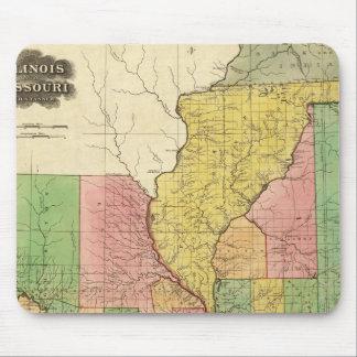 Illinois and Missouri Mouse Pad