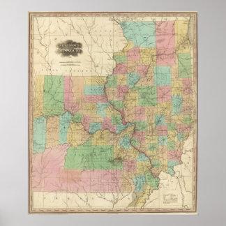 Illinois and Missouri Posters