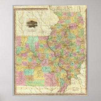 Illinois And Missouri Poster