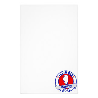 Illinois Andy Martin Personalized Stationery
