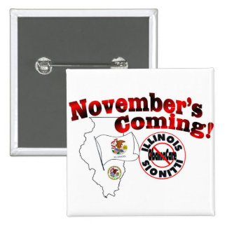 Illinois Anti ObamaCare – November's Coming! Pinback Button