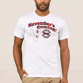 Illinois Anti ObamaCare – November's Coming! T-Shirt
