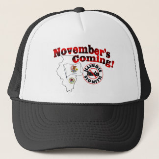 Illinois Anti ObamaCare – November's Coming! Trucker Hat