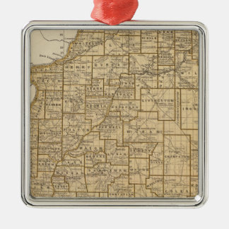 Illinois Atlas Map Metal Ornament