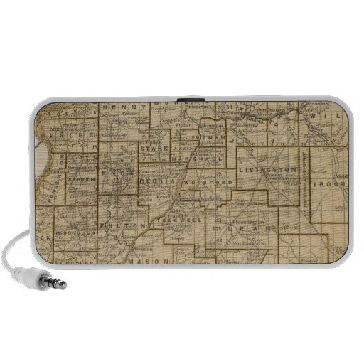 Illinois Atlas Map Mini Speaker