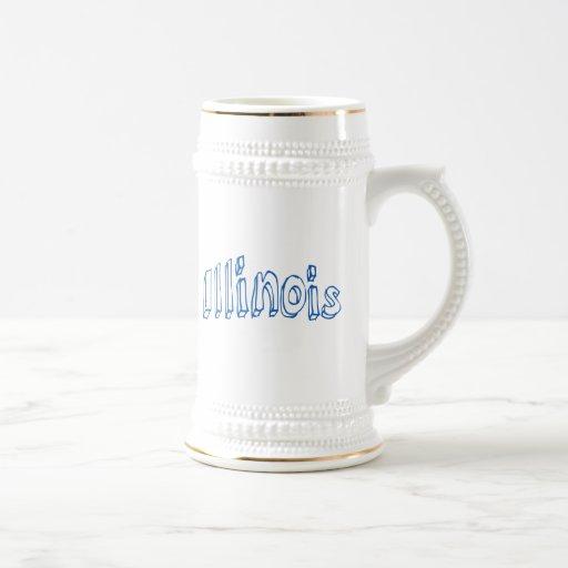 Illinois azul taza de café