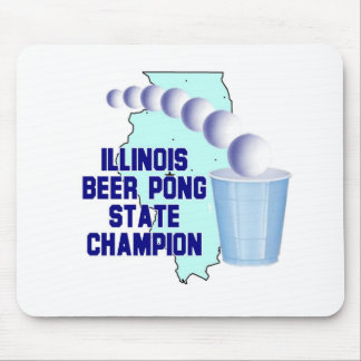 Illinois Beer Pong Mousepad