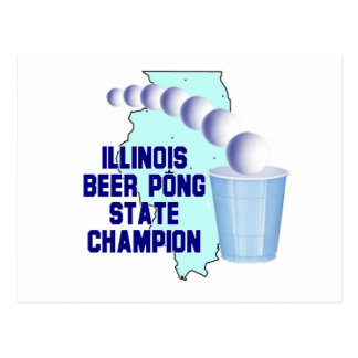 Illinois Beer Pong Postcards