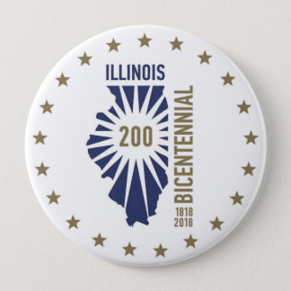 Illinois Bicentennial 1818-2018 Button