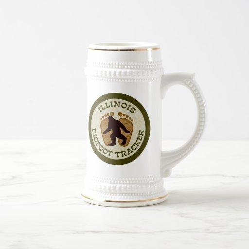 Illinois Bigfoot Tracker 18 Oz Beer Stein
