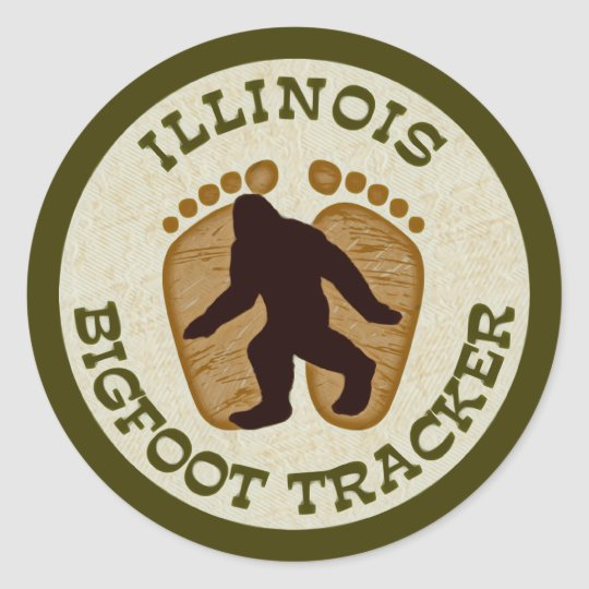 Illinois Bigfoot Tracker Classic Round Sticker