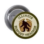 Illinois Bigfoot Tracker Pinback Button
